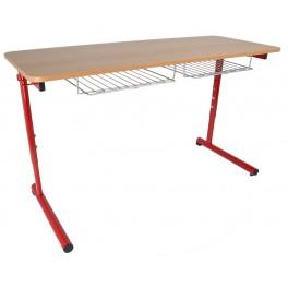 Stůl žákovský,stavitelný, dvoumístný