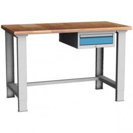 dílenský stůl s podvěsnou zásuvkou